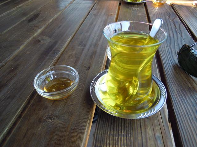 番紅花茶+蜂蜜