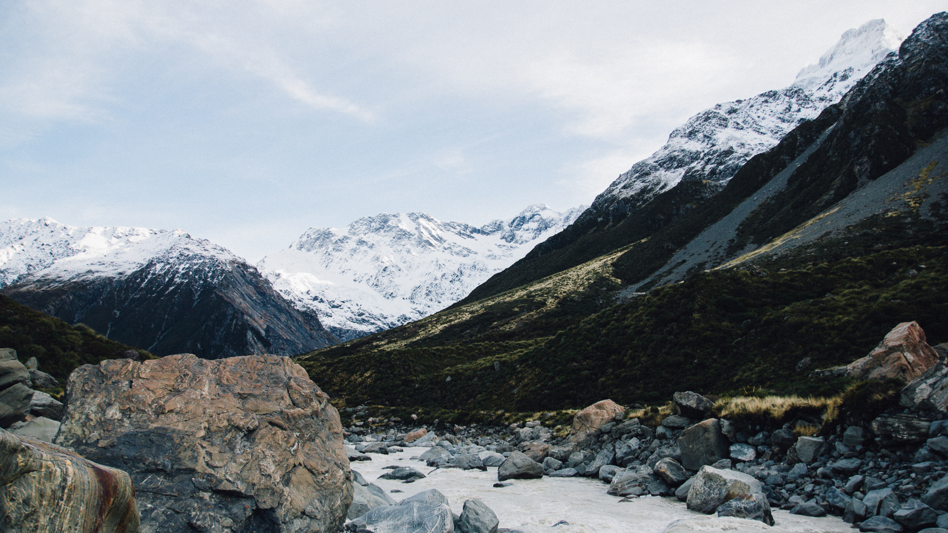 South Island, New Zealand - Hooker Valley Track, Mount Cook