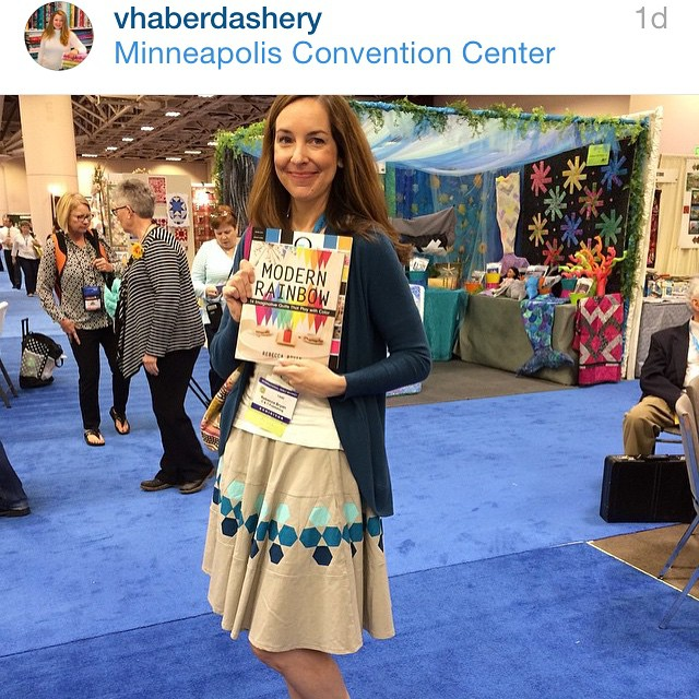 Repost: Annie of @vhaberdashery snagged this pic of me in my huckleberry skirt at market. Thanks Annie!