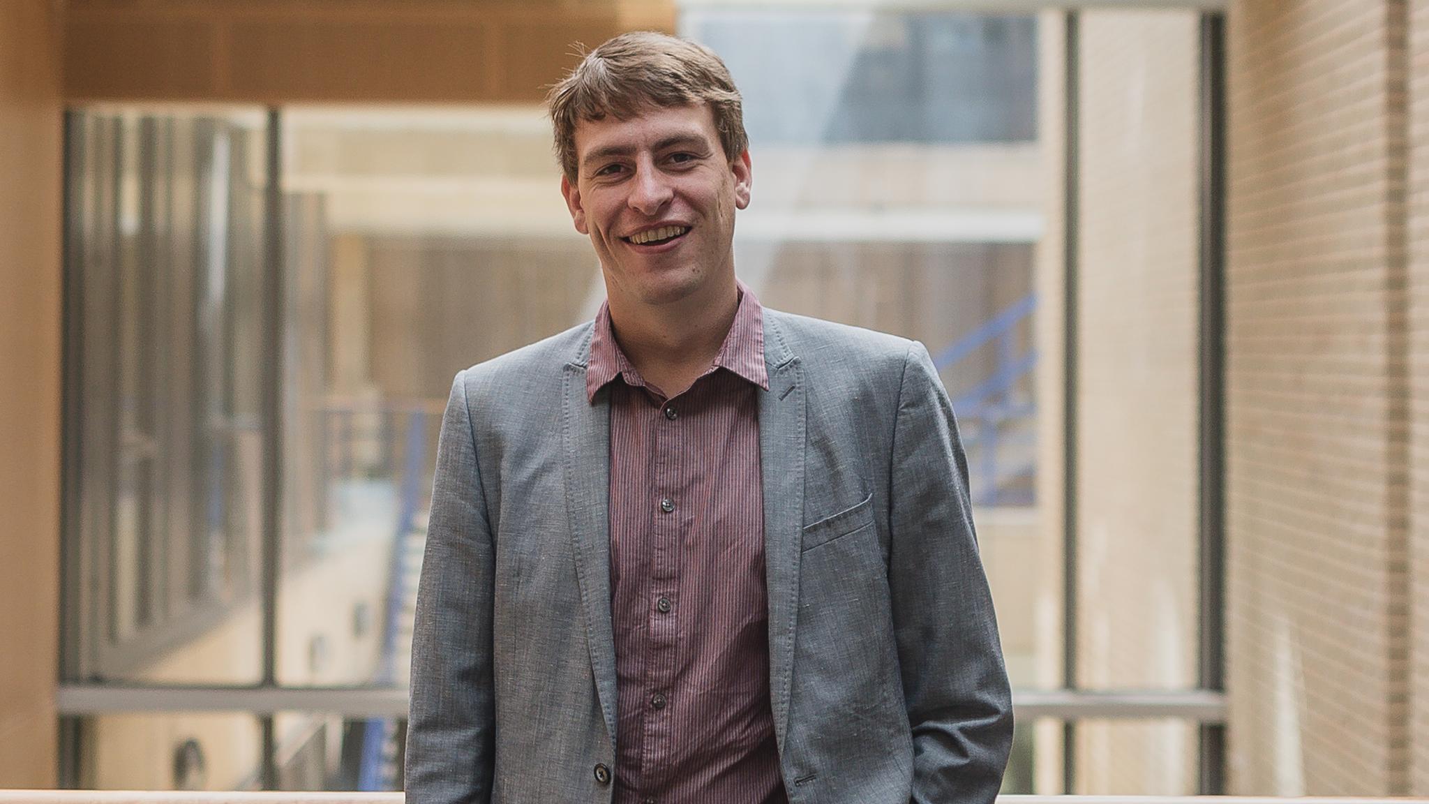 PhD student Marcus John