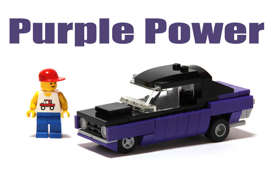 Muscle Car Purple Block 4 Wide Lego Muscle Car Purple P Flickr