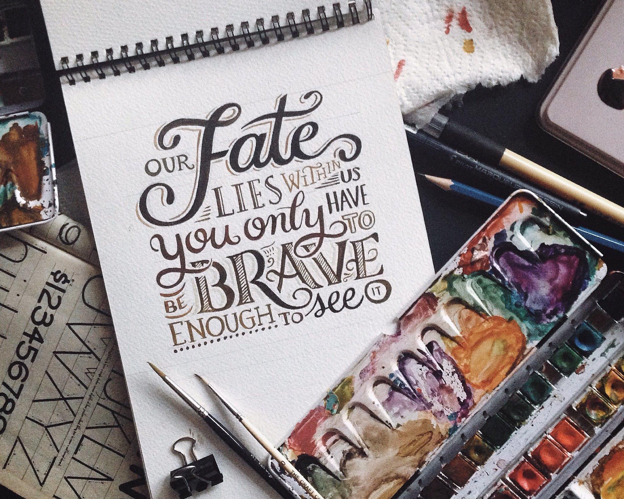 brave quote fate