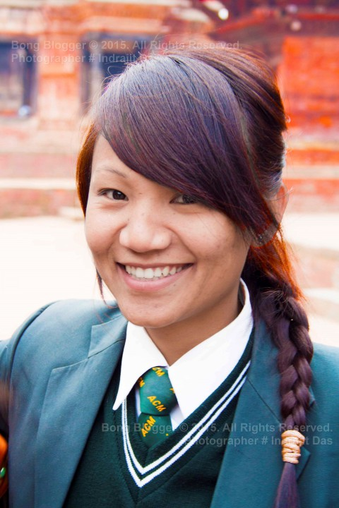 Faces of Nepal - Student at Durbar Square, Kathmandu, Nepal
