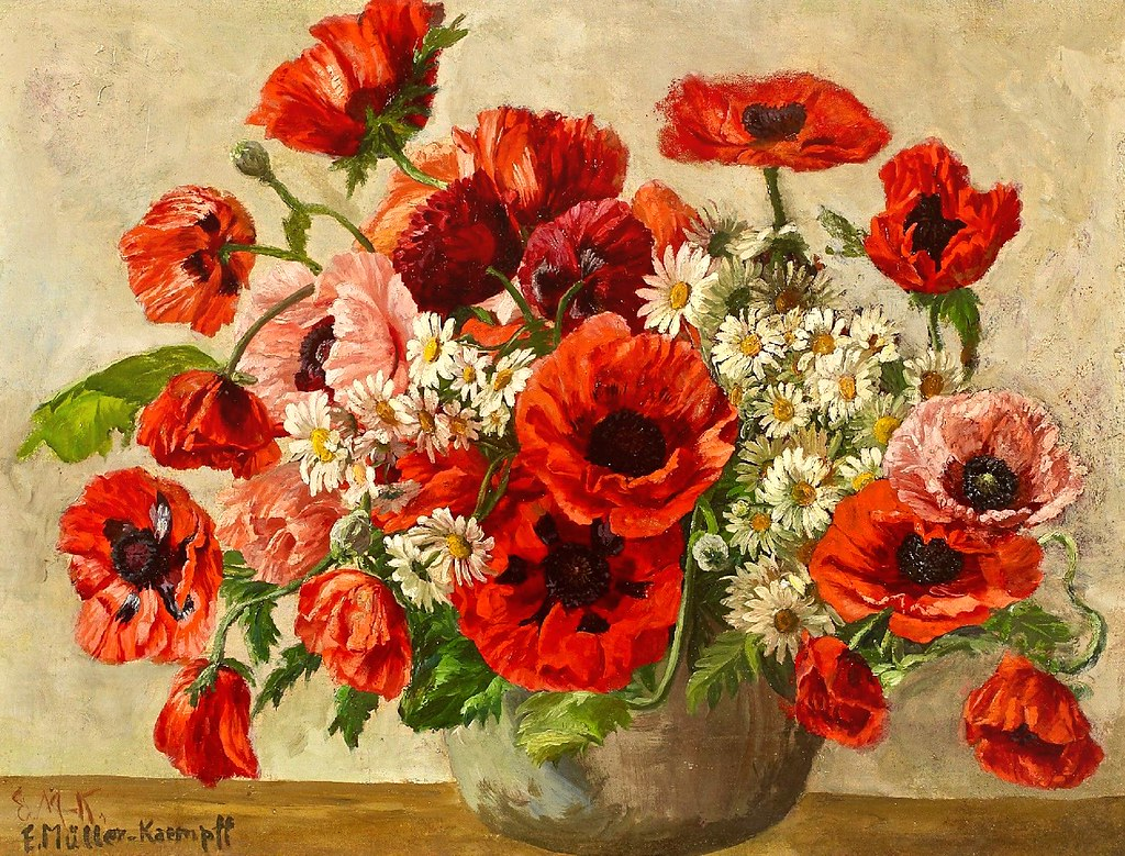 Well-liked Bouquet of red poppies (1940) | Blumenstrauß mit rotem Klats… | Flickr AR63