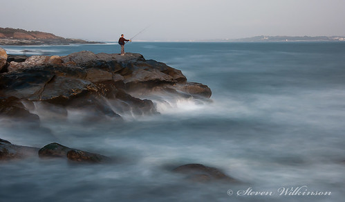 Beavertail Fisherman by Steven Wilkinson, via I {heart} Rhody