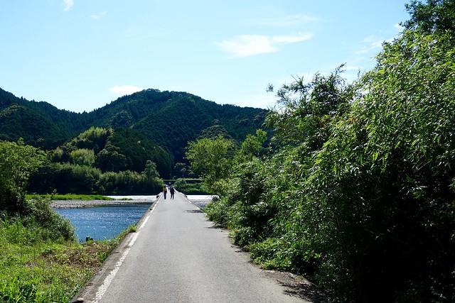 四佐田沈下橋の入り口