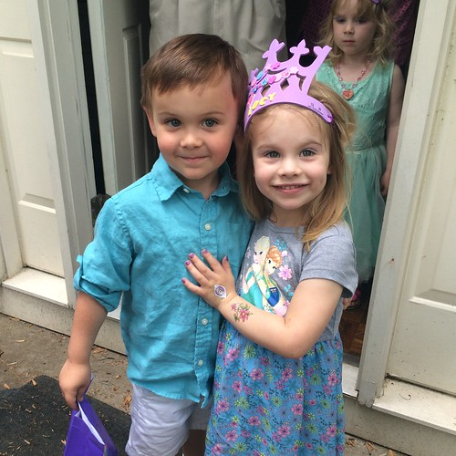 I asked Lucy to smile with her friend Jackson & they defaulted to Prom Pose.