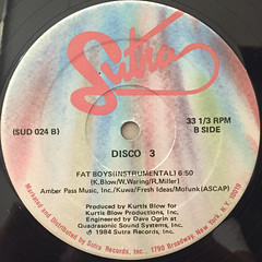 DISCO 3:FAT BOYS(LABEL SIDE-B)