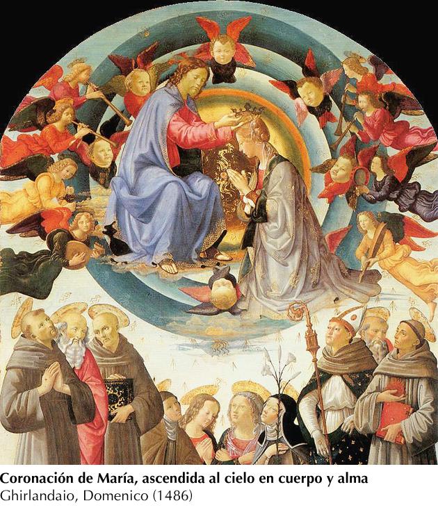 Ghuirlandaio, Domenico 1486- Asunción-Coronación de María