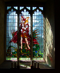 St George and the dragon by Hugh Easton