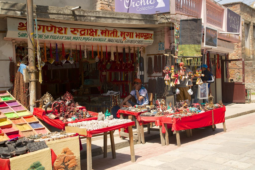 Nepalese Handicrafts For Sale A Vendors Stall Towards Ent Flickr