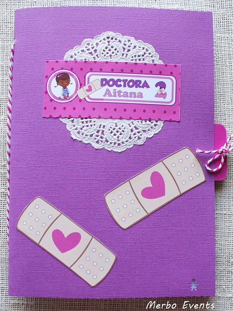 libreta fiesta doctora juguetes Merbo Events