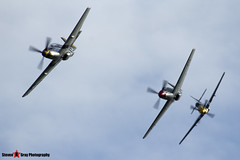 G-BTCD 122-39608 & G-SHWN 122-40417 & G-TFSI 124-44709 - North American P-51D TP-51D Mustang - Duxford, Cambridgeshire - 150523 - Steven Gray - IMG_4847