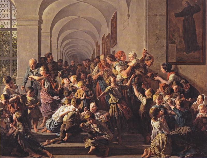 Ferdinand Georg Waldmüller - Die Klostersuppe (1858)