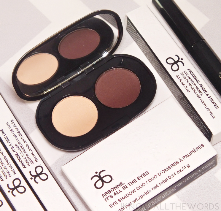 arbonne it's all in the eyes eyeshadow duo- fog & sienna (2)
