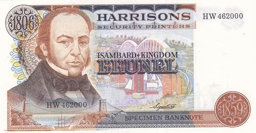 Isambard Kingdom Brunel specimen banknote