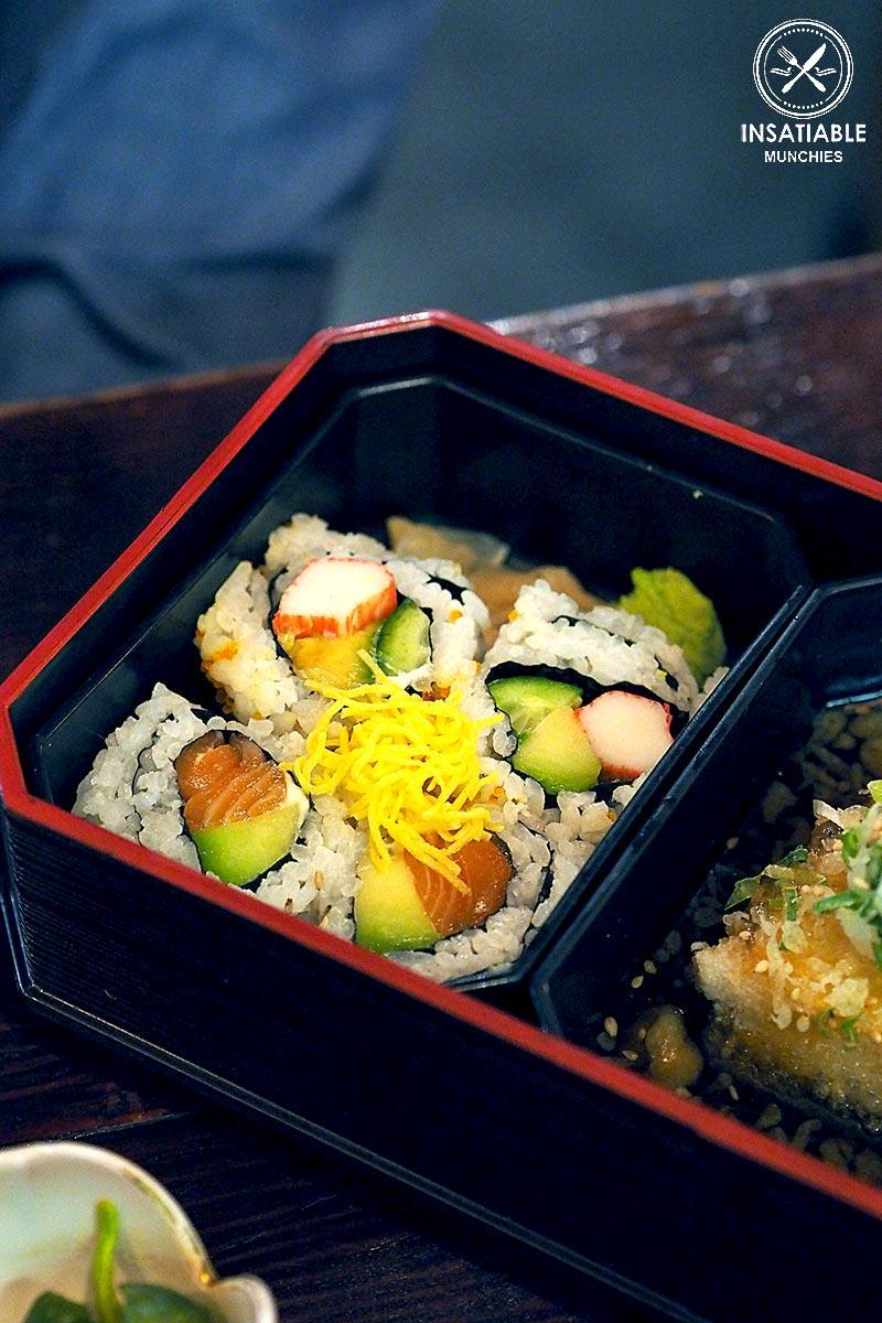 Restaurant Review: Yebisu Izakaya, Sydney CBD. Maki rolls (part of Hokkaido Gozen Bento)