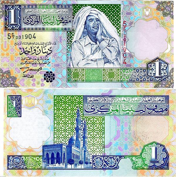 1 líbyjský dinár Líbya cca 2002