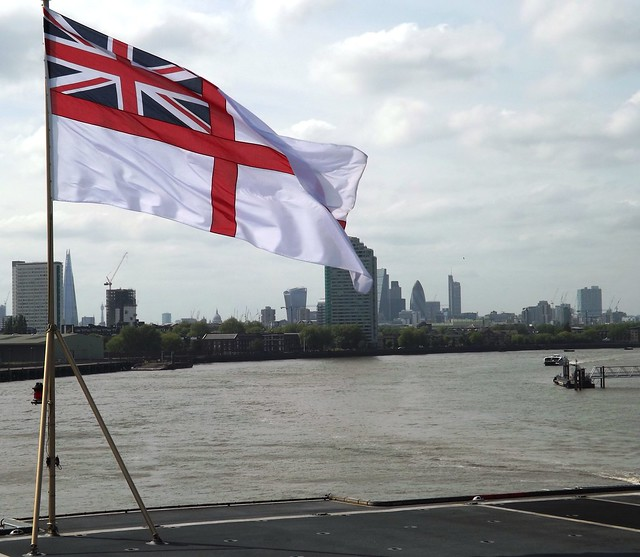 HMS Ocean L12 flying the flag in London (2) @ Greenwich 10-05-15
