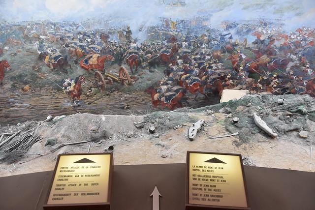Waterloo.Scène de la bataille au panorama.5