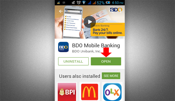 How to Install BDO Mobile Banking App step 4