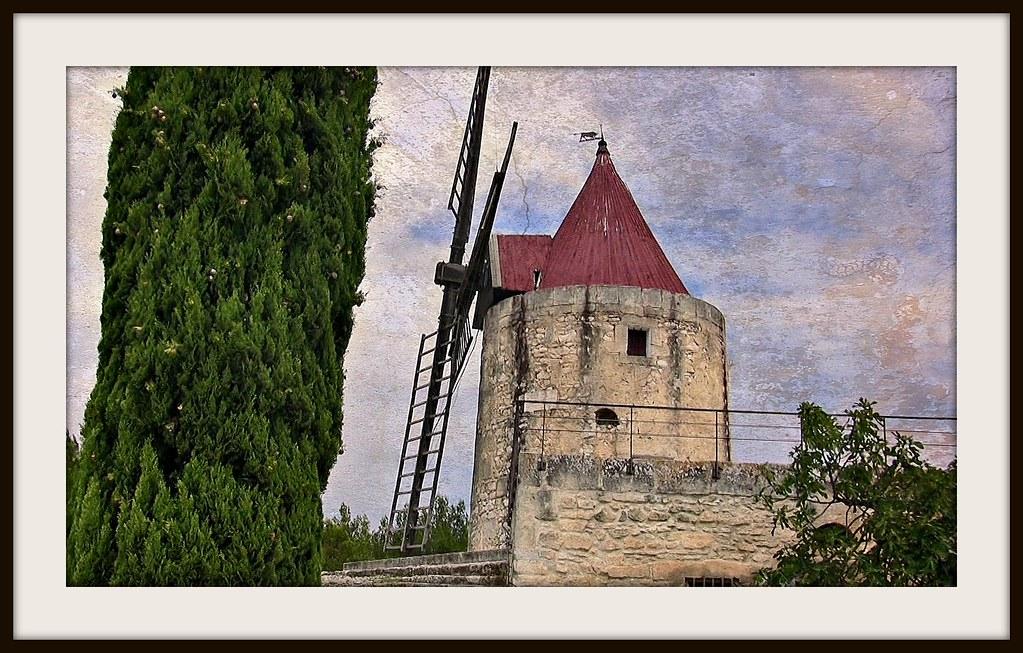 FRANCE - Provence , Moulin de Daudet bei Fontvieille, 12775/5216