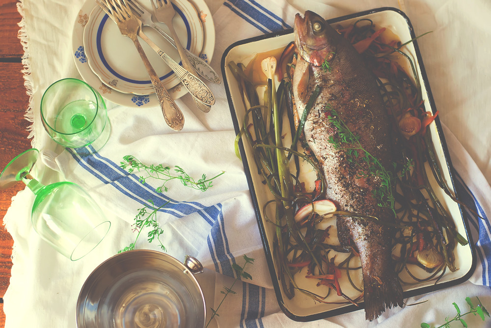 the baked trout.1