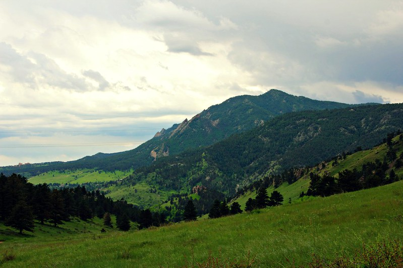 Flatirons viewed from Mount Sanitas, Boulder