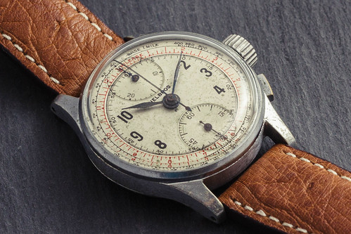 Vintage '40s Helbros chronograph watch #2 | by GuySie