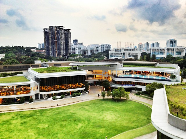 View from skygarden of Utown Graduate Residence, National University of Singapore