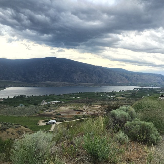 The Okanagan Valley from the lookout