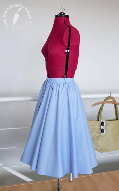 Burda Vintage,  Capri (skirt), szycie, krawiectwo, wykrój, spódnica, lata '50., lato, summer, skirt, pattern, 50s, diy, marchewkowa, blog, styl, style, retro