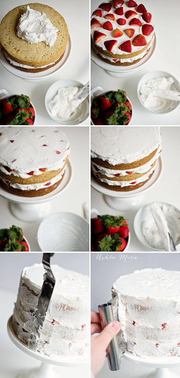 Making a naked cake is super easy, you can leave the sides plain or frost then scrape off to get a lighter look