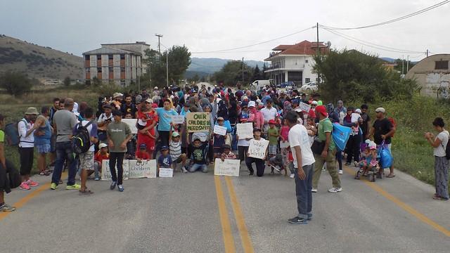 Katsikas refugees protest