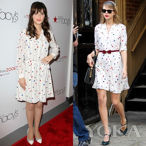 Taylor Swift VS Zooey Deschanel