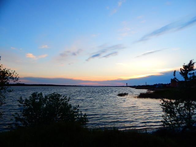 закат в Крыму над озером | horoshogromko.ru