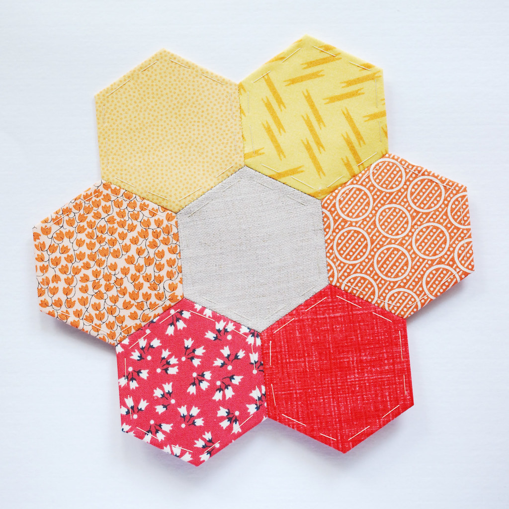 How to make embroidered hexagons