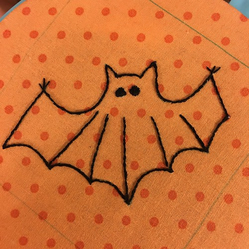 Postcard Cuties for Halloween BOM Bat 1 | by sandyquiltz