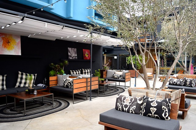 Outdoor Seating at Farmers Daughter Hotel, West Hollywood