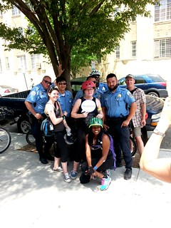 Members of the DCPL Bike Committee and the Ward 2 bike police.