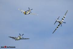 G-BTCD 122-39608 & G-SHWN 122-40417 & G-TFSI 124-44709 - North American P-51D TP-51D Mustang - Duxford, Cambridgeshire - 150523 - Steven Gray - IMG_4875
