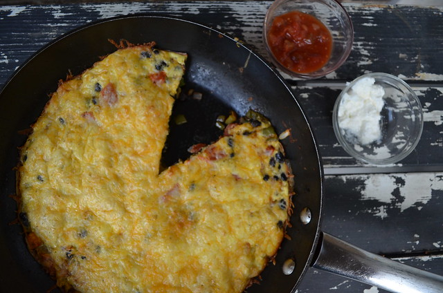 Mexican Veggie Frittata (featuring McCormick Perfect Pinch Mexican Spice)