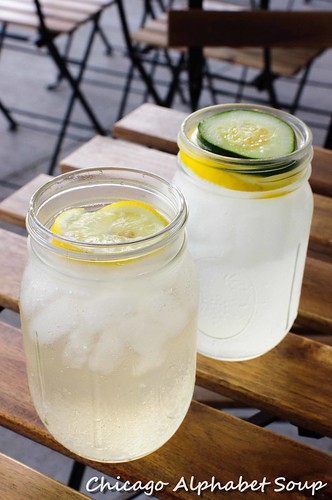Spritzers: Ginger with Lemon and Cucumber Mint