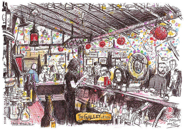 The Galley bar, Santa Monica