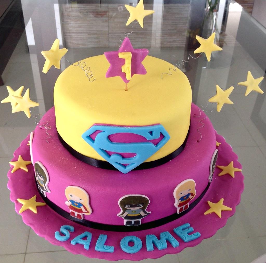 Girl Superhero Cake Images
