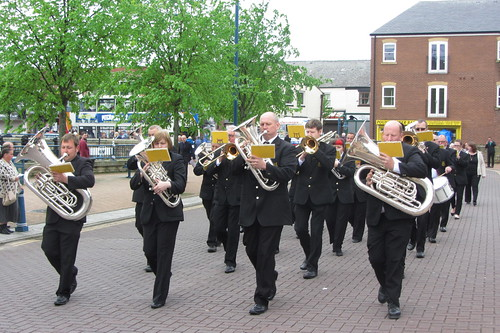 Mossley Band, Armentieres Square, Stalybridge