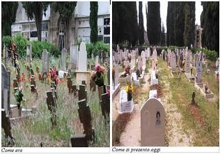 Cimitero ieri e oggi a confronto