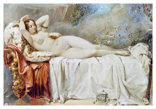 010-Odalisque (1841)-E. H. Corbould-Via Victorian British Painting