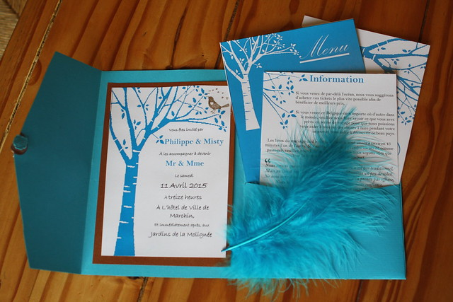The completed invitation
