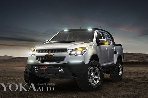 Combination of tough guy style pickups and Chevrolet new car SUV